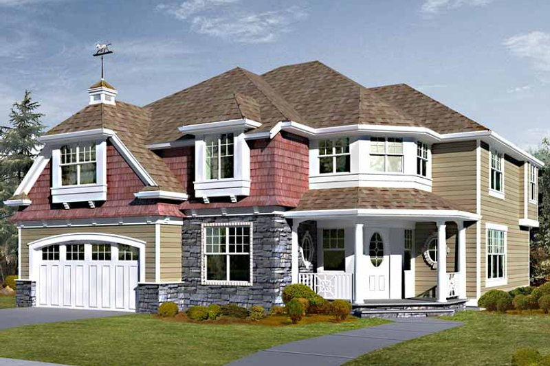 Country Exterior - Front Elevation Plan #132-456 - Houseplans.com