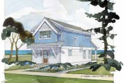 Craftsman Style House Plan - 2 Beds 1.5 Baths 1429 Sq/Ft Plan #928-174 Exterior - Rear Elevation