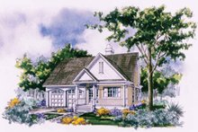 Ranch Exterior - Front Elevation Plan #929-304