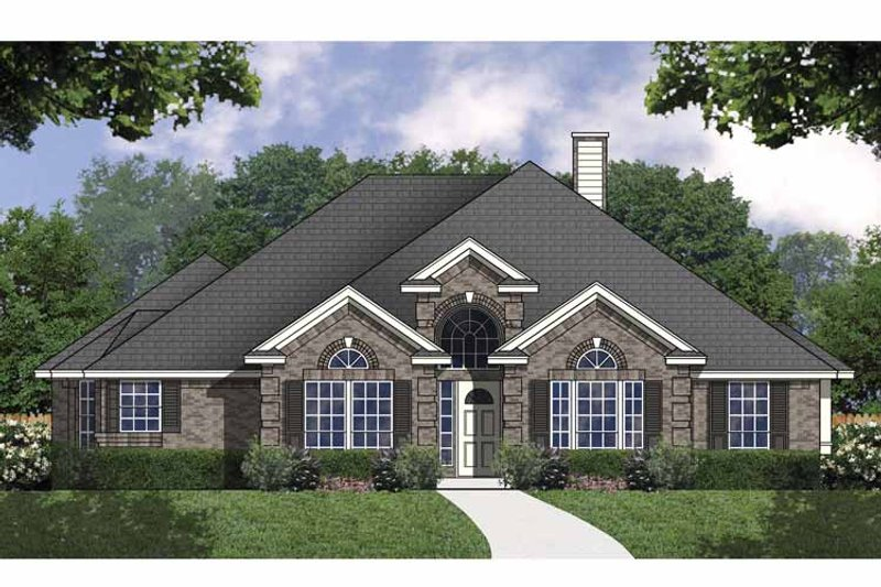 Traditional Exterior - Front Elevation Plan #40-473 - Houseplans.com