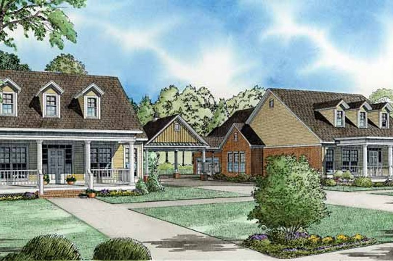 Country Exterior - Front Elevation Plan #17-2824 - Houseplans.com