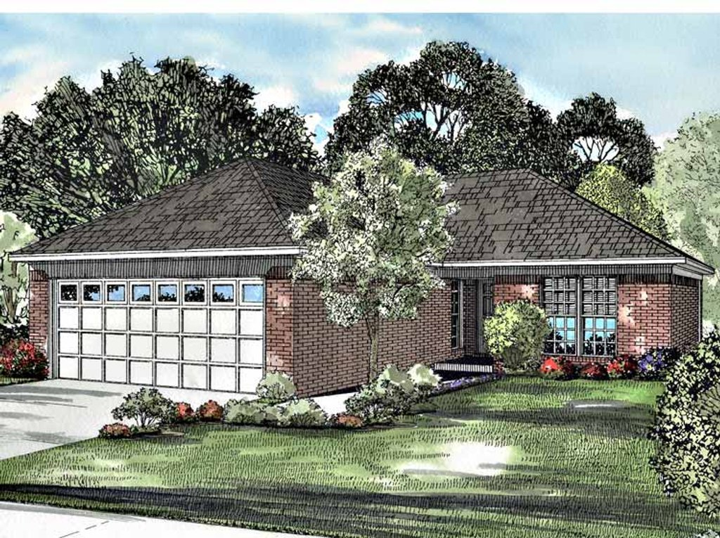 Ranch style house plan 2 beds 1 baths 989 sq ft plan 17 for Www home plans