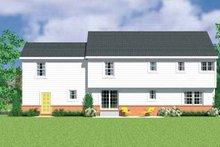 Colonial Exterior - Rear Elevation Plan #72-1112