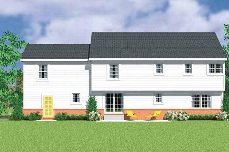 House Blueprint - Colonial Exterior - Rear Elevation Plan #72-1112