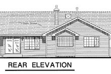 House Blueprint - Ranch Exterior - Rear Elevation Plan #18-192