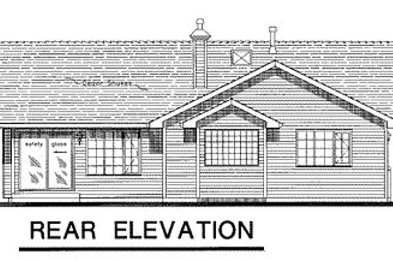 Ranch Exterior - Rear Elevation Plan #18-192 - Houseplans.com