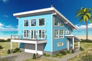 Contemporary Exterior - Front Elevation Plan #932-67