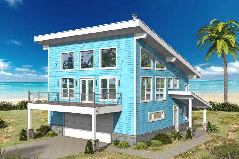 House Plan Design - Contemporary Exterior - Front Elevation Plan #932-67