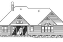 Home Plan - Country Exterior - Rear Elevation Plan #929-10