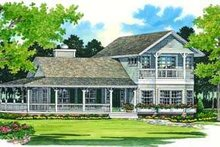 Country Exterior - Front Elevation Plan #72-124