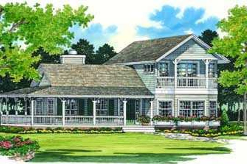 Dream House Plan - Country Exterior - Front Elevation Plan #72-124