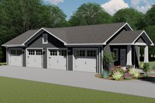 House Plan Design - Country Exterior - Front Elevation Plan #1064-76