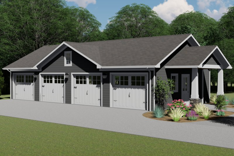 Dream House Plan - Country Exterior - Front Elevation Plan #1064-76