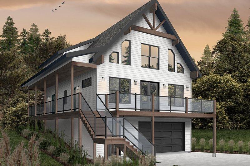 Dream House Plan - Cottage Exterior - Front Elevation Plan #23-2718