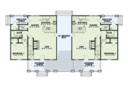 Country Style House Plan - 6 Beds 4 Baths 2758 Sq/Ft Plan #17-2563 Floor Plan - Main Floor