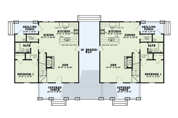 Country Floor Plan - Main Floor Plan Plan #17-2563