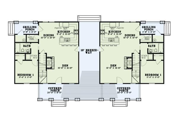 Country Floor Plan - Main Floor Plan #17-2563