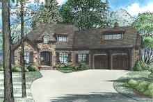 House Plan Design - European Exterior - Front Elevation Plan #17-2529