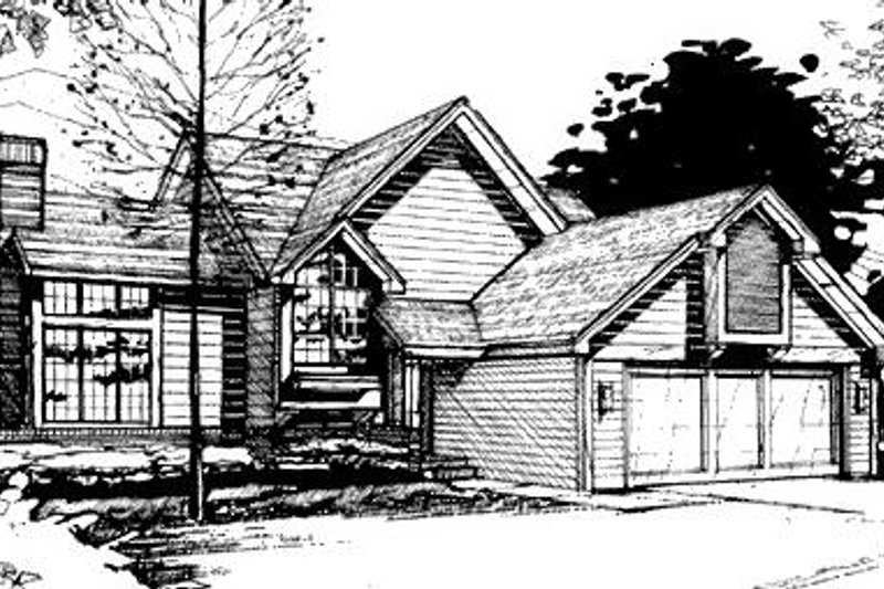Dream House Plan - Modern Exterior - Front Elevation Plan #320-466