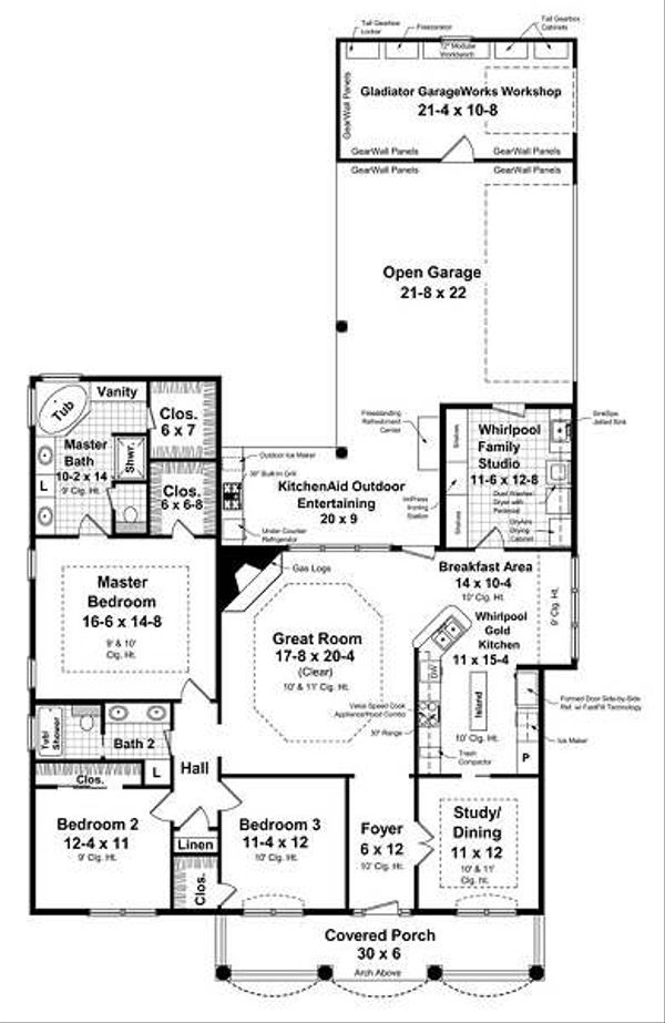 Traditional Floor Plan - Main Floor Plan Plan #21-231
