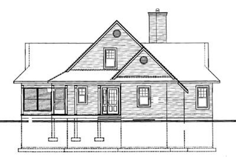 Traditional Exterior - Rear Elevation Plan #23-2067 - Houseplans.com