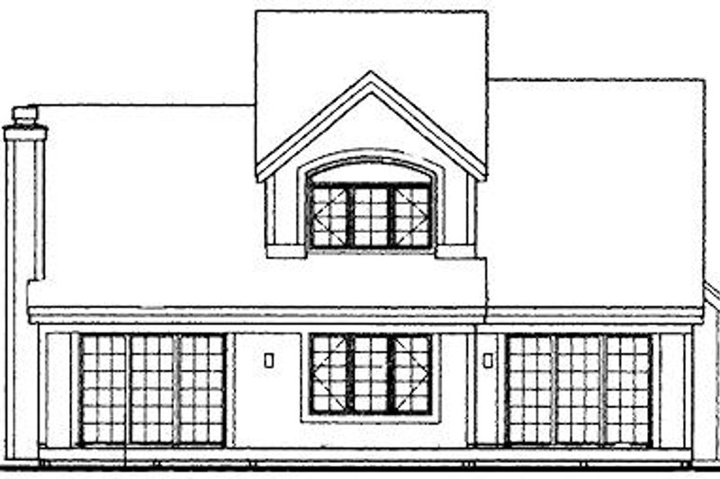 Traditional Exterior - Rear Elevation Plan #320-411 - Houseplans.com