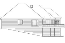 Home Plan - Traditional Exterior - Rear Elevation Plan #48-421