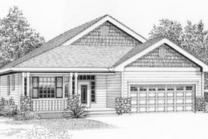 Traditional Exterior - Front Elevation Plan #53-164