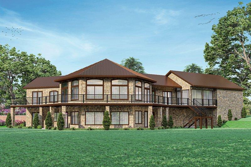 Home Plan - European Exterior - Rear Elevation Plan #124-1266