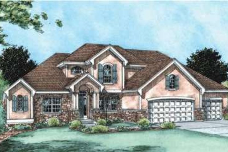 Traditional Exterior - Front Elevation Plan #20-1787 - Houseplans.com