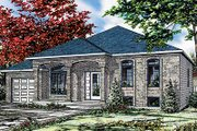 European Style House Plan - 4 Beds 1 Baths 1186 Sq/Ft Plan #138-193 Exterior - Front Elevation
