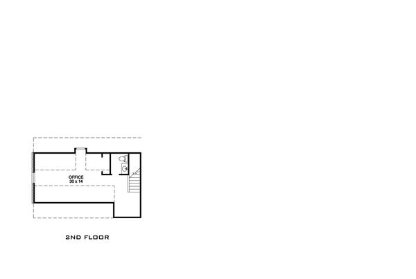 Country Floor Plan - Upper Floor Plan Plan #140-160