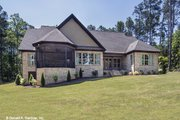 Ranch Style House Plan - 4 Beds 4 Baths 3045 Sq/Ft Plan #929-1007 Exterior - Rear Elevation