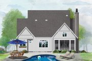 Farmhouse Style House Plan - 4 Beds 3 Baths 2297 Sq/Ft Plan #929-1069 Exterior - Rear Elevation