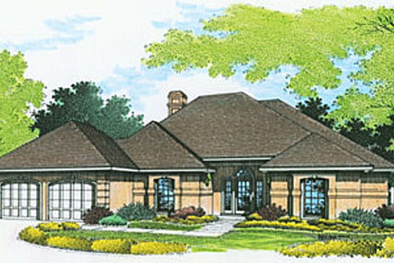 Traditional Exterior - Front Elevation Plan #45-138 - Houseplans.com