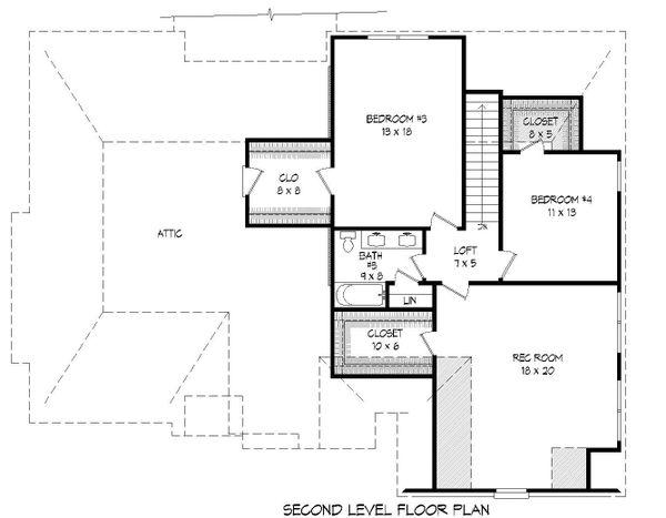 Country Floor Plan - Upper Floor Plan Plan #932-272