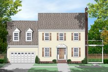 Dream House Plan - Colonial Exterior - Front Elevation Plan #1053-74