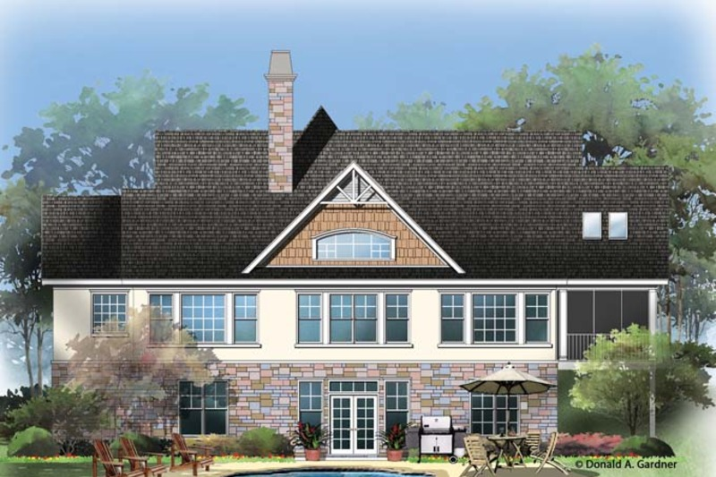 Craftsman Exterior - Rear Elevation Plan #929-953 - Houseplans.com