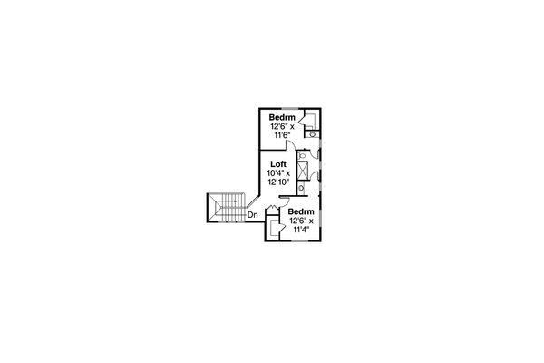 Contemporary Floor Plan - Upper Floor Plan Plan #124-1045