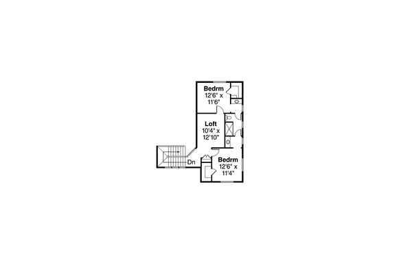 Contemporary Floor Plan - Upper Floor Plan Plan #124-1045