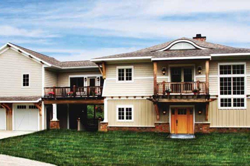 Craftsman Exterior - Front Elevation Plan #928-112