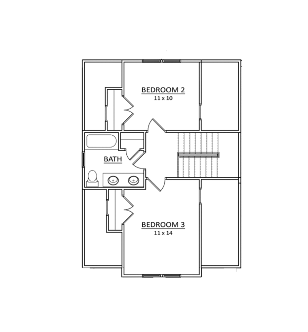 Craftsman Floor Plan - Upper Floor Plan Plan #936-5