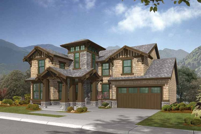 Craftsman Exterior - Front Elevation Plan #132-320