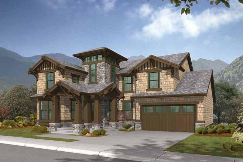 Dream House Plan - Craftsman Exterior - Front Elevation Plan #132-320