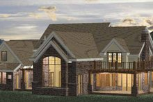 Home Plan - Classical Exterior - Rear Elevation Plan #937-23