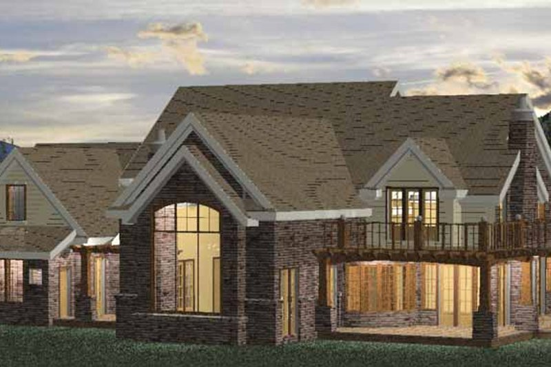 Classical Exterior - Rear Elevation Plan #937-23 - Houseplans.com