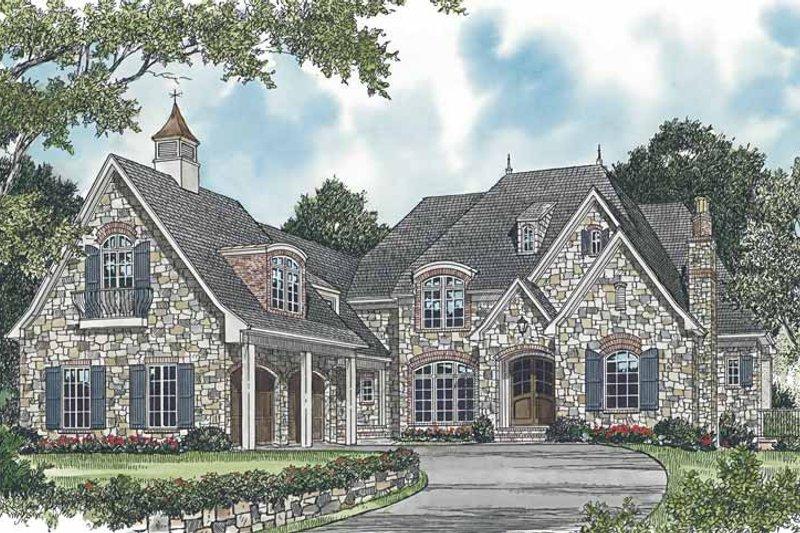 Dream House Plan - European Exterior - Front Elevation Plan #453-601