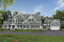 Architectural House Design - Country Exterior - Front Elevation Plan #132-521