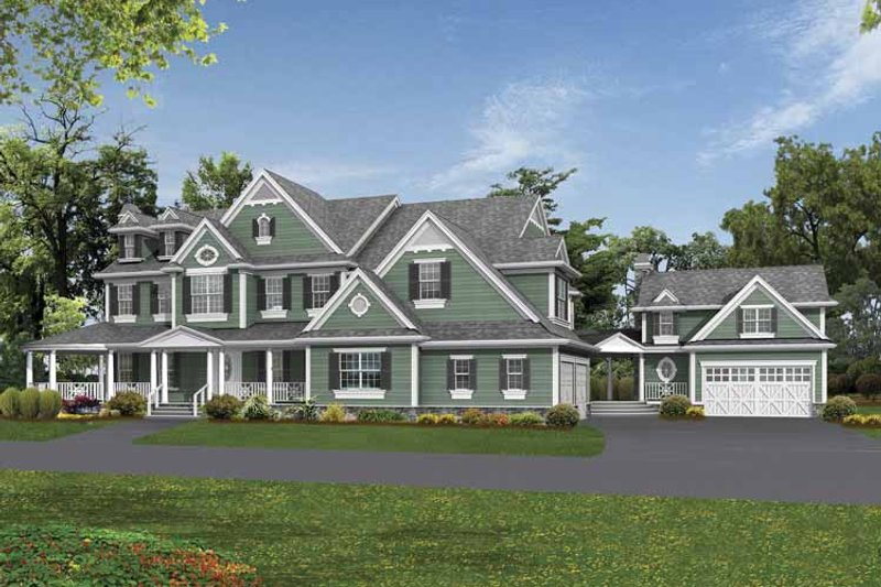 Country Exterior - Front Elevation Plan #132-521 - Houseplans.com