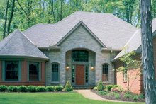 Country Exterior - Front Elevation Plan #46-537